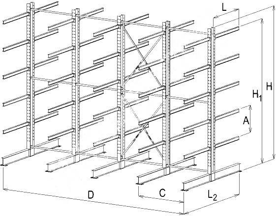 схема стеллажи консольные
